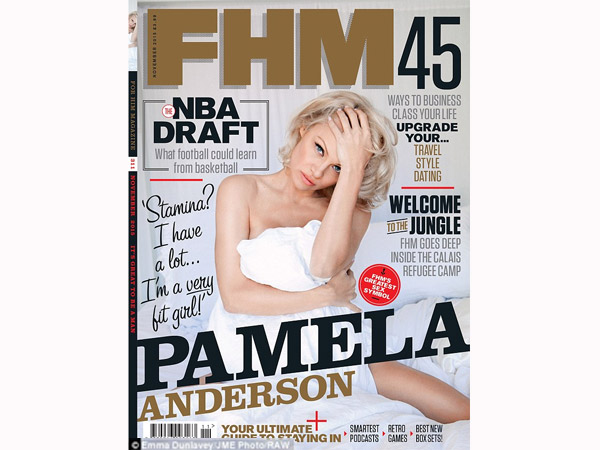 Pamela Anderson Is FHM's Oldest Yet Hottest Star, Bares On Cover, Talks Playboy Parties...