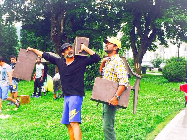Akshay On The Sets