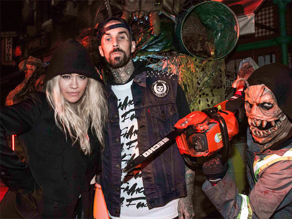Rita Ora and Travis Barker