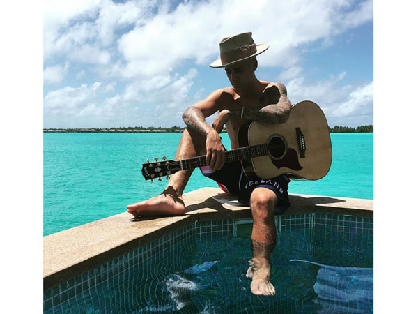 Justin Bieber's Shirtless Bora Bora Vacation With Jayde Pierce