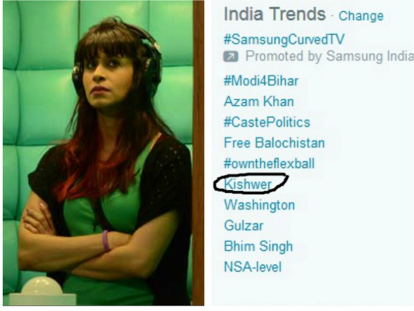 Bigg Boss 9: 'Kishwer' Merchant Trending On Twitter; Tweepls Call Kishwer Irritating!
