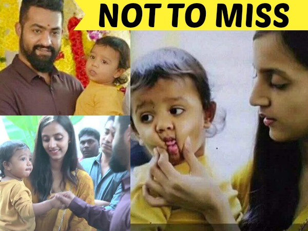 UNSEEN: NTR-Lakshmi Pranathi Playing With Their Son Abhay Ram, Adorable Pics!