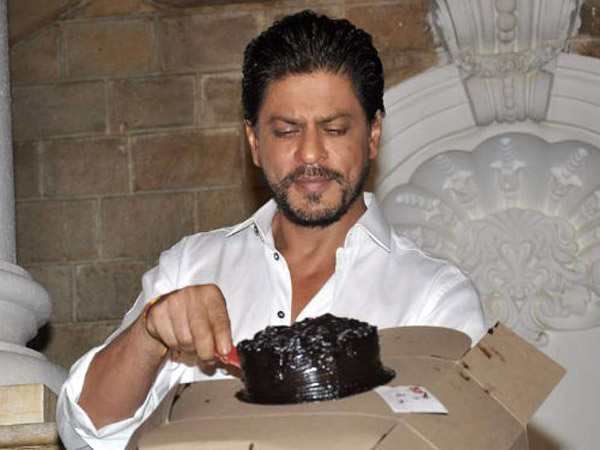 Shahrukh With Cake