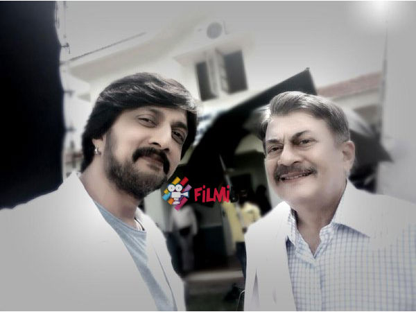 PIC MOMENT: Sudeep Teams Up Ananth Nag For OLX Ad