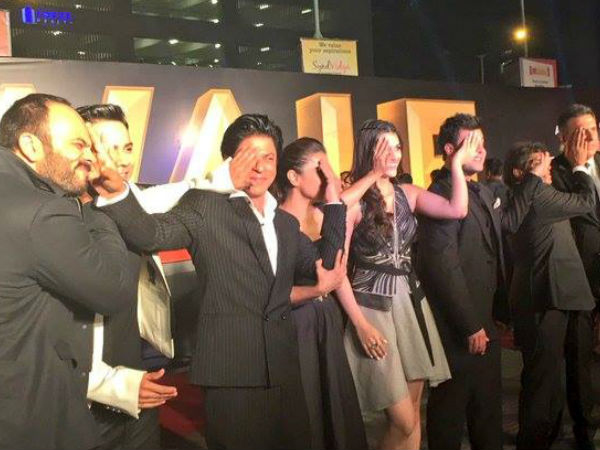 Dilwale Team At The Trailer Launch
