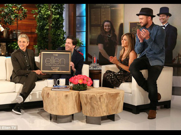 Justin  & Jennifer Take Ellen DeGeneres By Surprise!