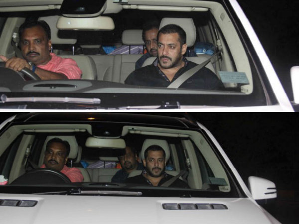 Salman Khan Arriving For Birthday Bash