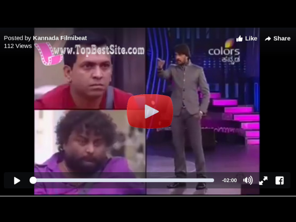 Bigg Boss 3: Huccha Venkat vs Kiccha Sudeep (Video)