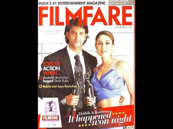 On The Filmfare Cover