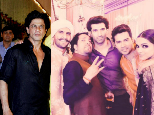 When SRK Met Deepika & Ranveer At Diwali Bash