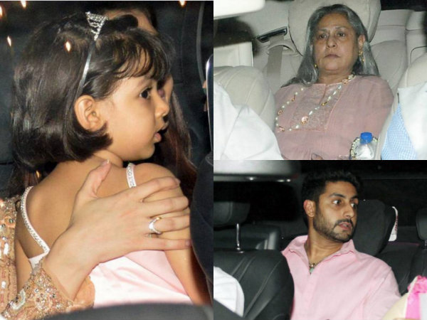 Aaradhya Spotted Inside The Car