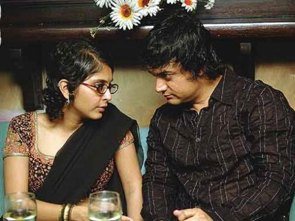 Candid Pic Of Aamir And Kiran