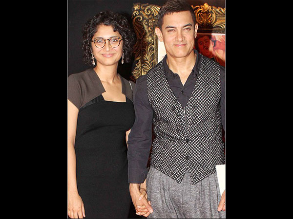 Aamir, Kiran At An Event