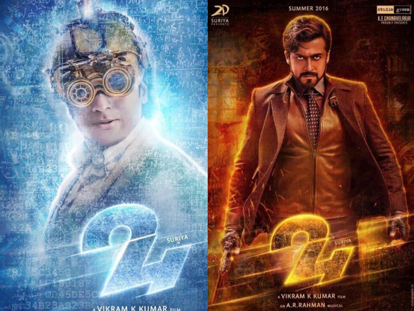 Official First Look Posters From Suriya's Upcoming Movie '24'!