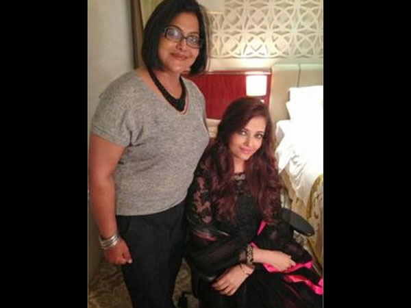 Aish With Her Makeup Artist