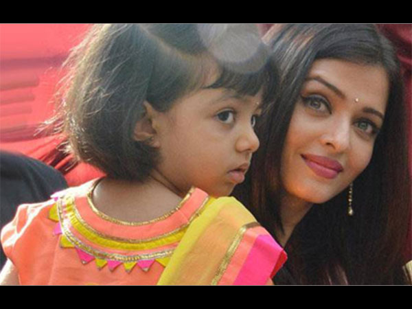 Aaradhya-Aish At A Temple