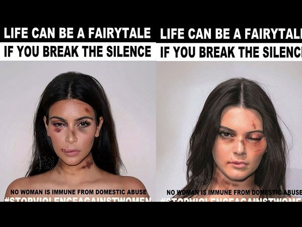 Miley, Emma Watson, Kim K & Kendall Jenner In Anti-Domestic Violence Campaign!
