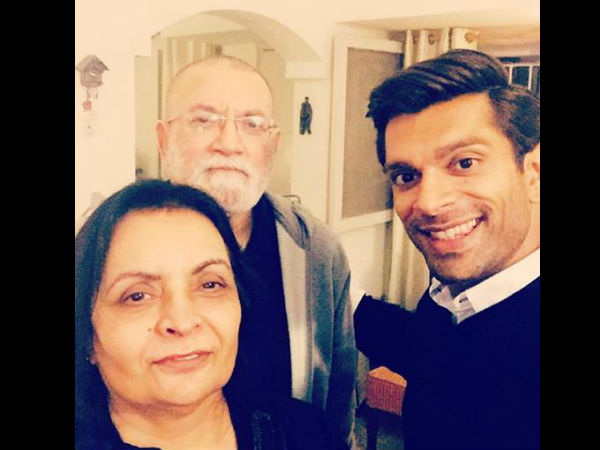 Karan With His Mom & Dad