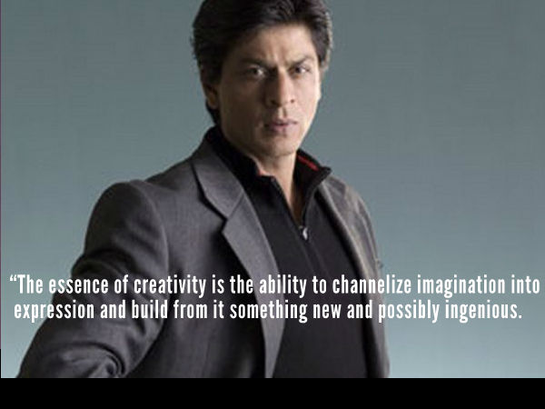 SRK On Creativity