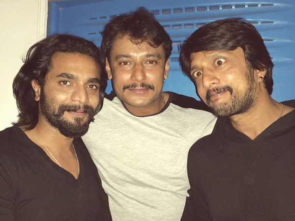 With 'Kuchikoos' Sudeep & Darshan