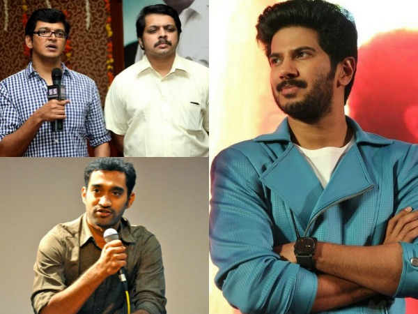 Dulquer Salmaan With Anoop Sathyan And Bobby-Sanjay