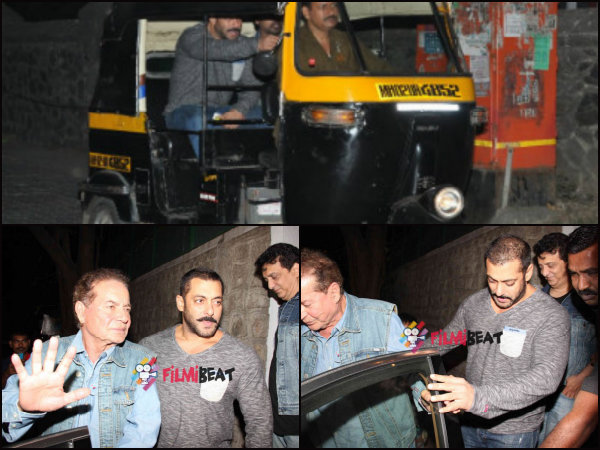 Salman Paid Rs 1000 To An Auto Driver; Attends B'day Bash