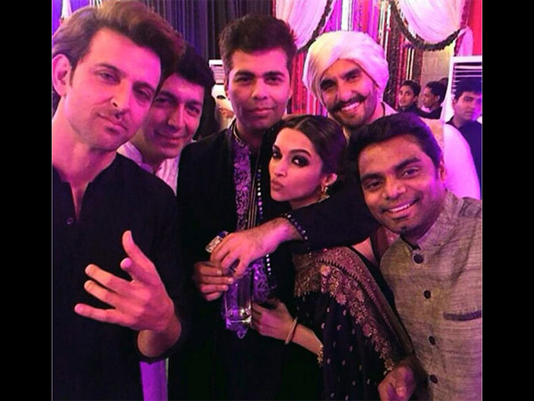 Hrithik With Friends