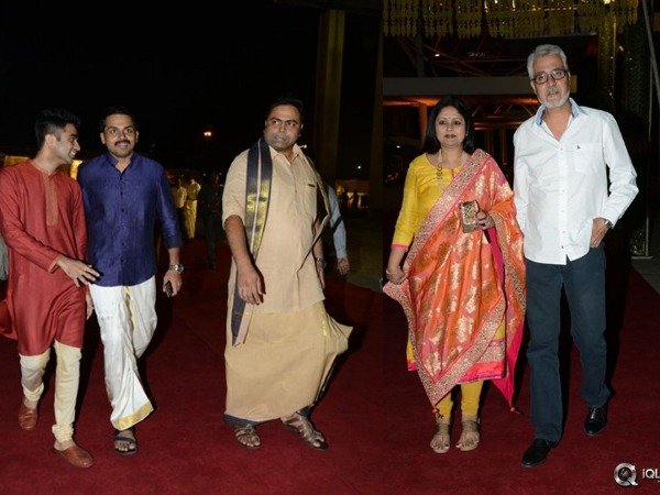 Celebrities At PVP Daughter Half Saree Function | Mahesh