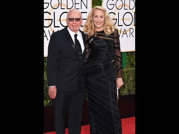 Media Tycoon Rupert Murdoch & Jerry Hall Engaged, But No Ring Found On Jerry's Hand