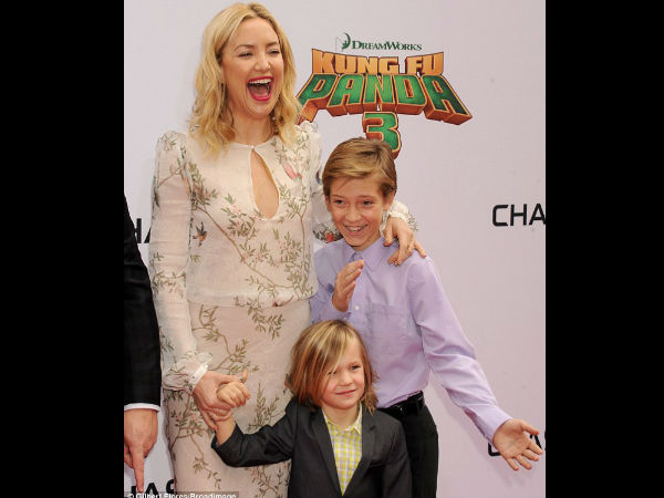 Cute! Kate Hudson & Angelina Jolie Bring Their Children To Kung Fu Panda 3 Premiere