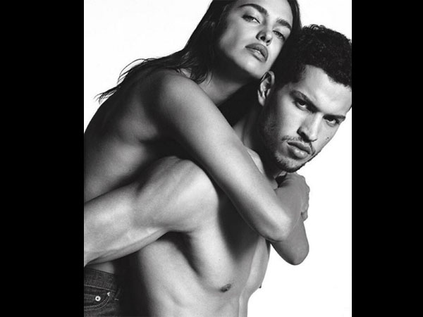 Hotness Personified! Irina Shayk Goes Bare & Cuddles With A Shirtless Man!
