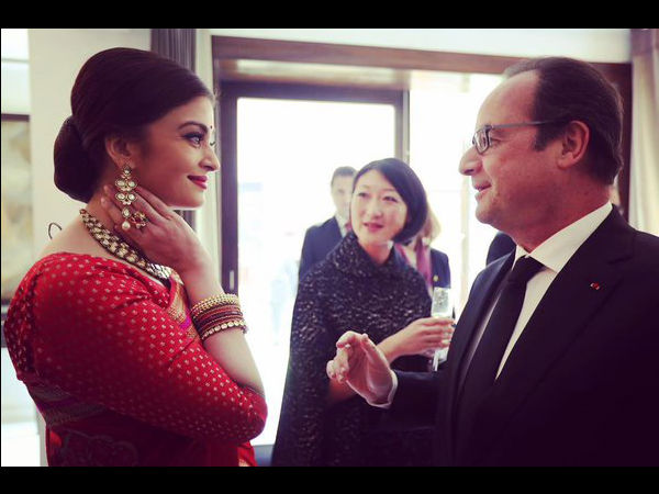With Francois Hollande!