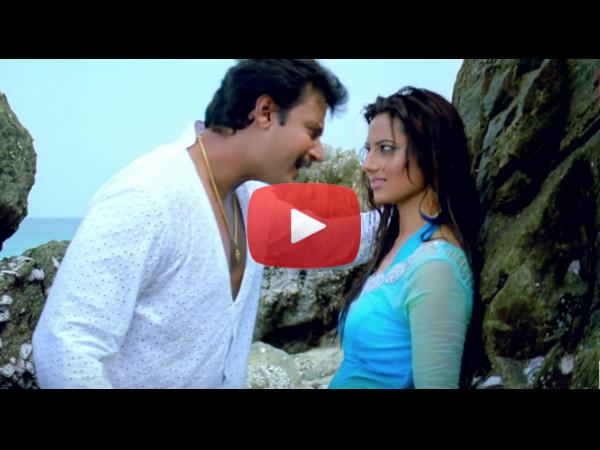 Watch Romantic Song Munjaane Suriva Minchali From Darshan S Upcoming Movie Viraat Written By Lyricist Kaviraj Filmibeat