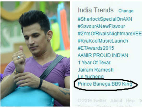 Bigg Boss 9 With Salman: Prince Narula, Wins Ticket To Finale; 'Prince Banega BB9 King' Trending