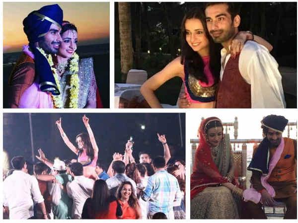 Sanaya Irani Mohit Sehgals Goa Wedding Drashti Dhami Barun Sobti Arjun Bijlani Attend PICS