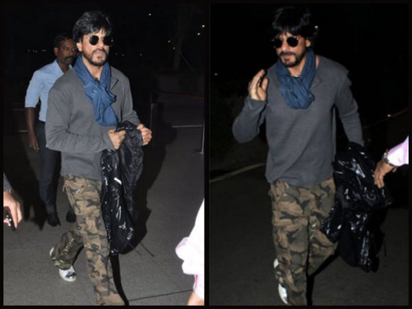 SRK Spotted At Mumbai Airport, Leaving For London