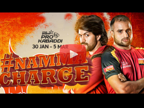 WATCH: Rocking Star Yash's Promotional Song For Pro Kabaddi 2016 (Season 3)