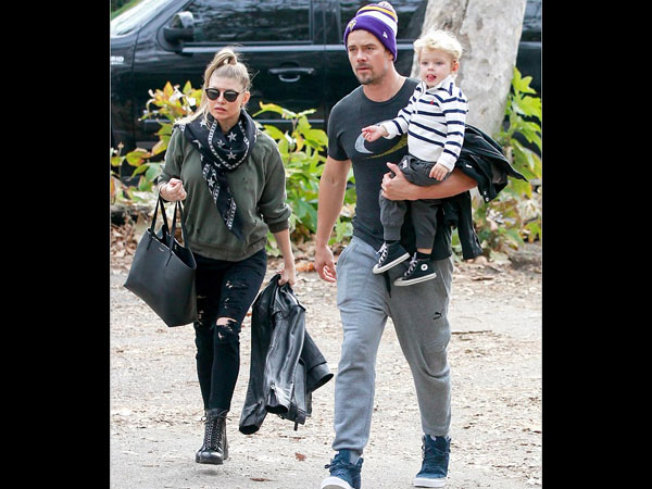 CUTE! Fergie Was Spotted With Son Axl While Taking Him On A Play Date