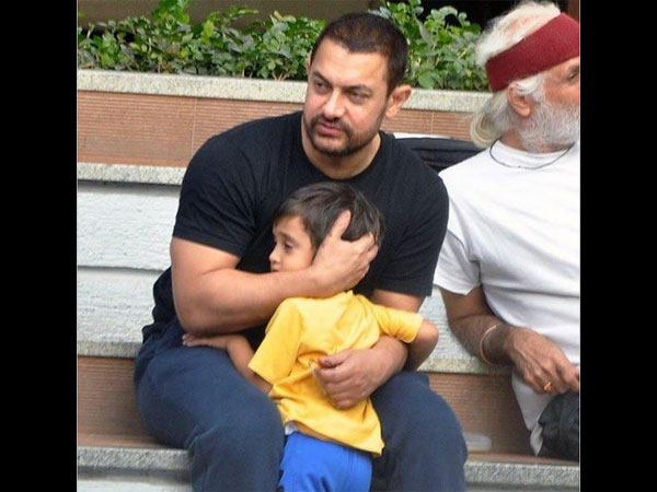 Aamir Spotted With Little Son Azad