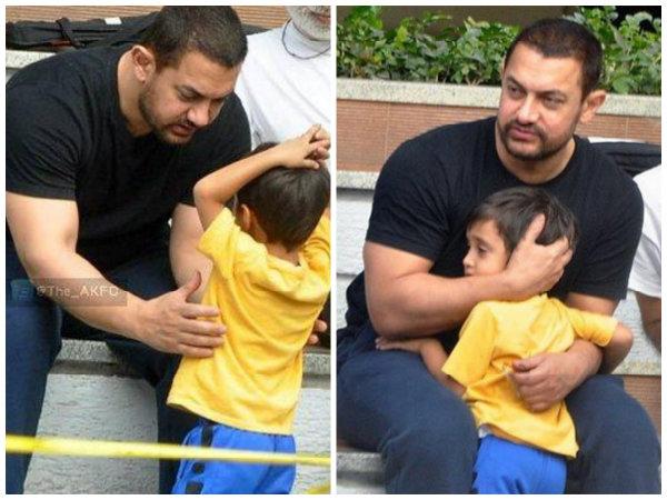 HOW CUTE! Aamir Khan's Latest PICS With Little Son Azad ...