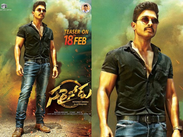Allu Arjun's Sarrainodu Gets A Costly Set For A Special Song