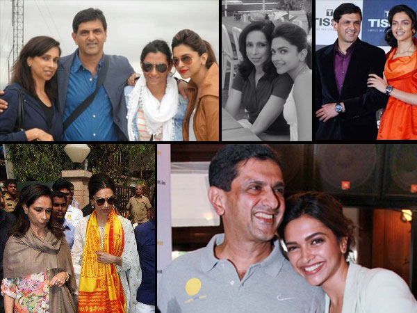 See Deepika Padukone Heart Touching Pictures With Her Parents