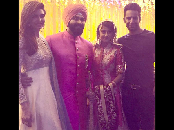 Bigg Boss 8 Contestant Aarya Babbar Ties The Knot With GF Jasmine Puri; Karishma-Upen Attend-PICS