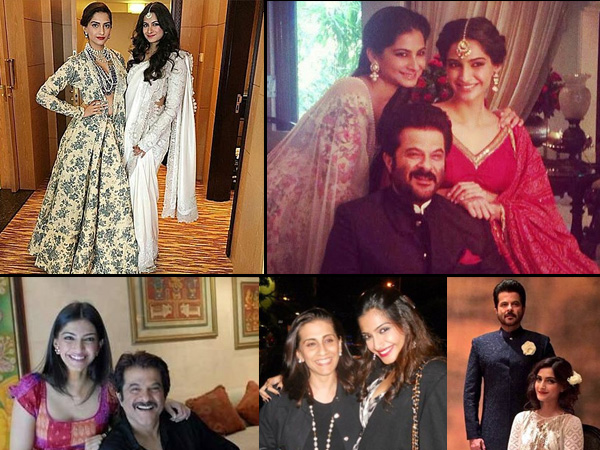Sonam Kapoor with her family