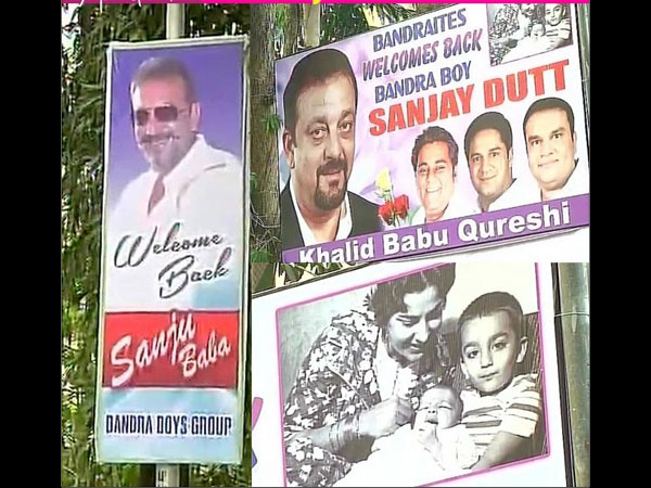 Sanjay Dutt Posters Outside His House