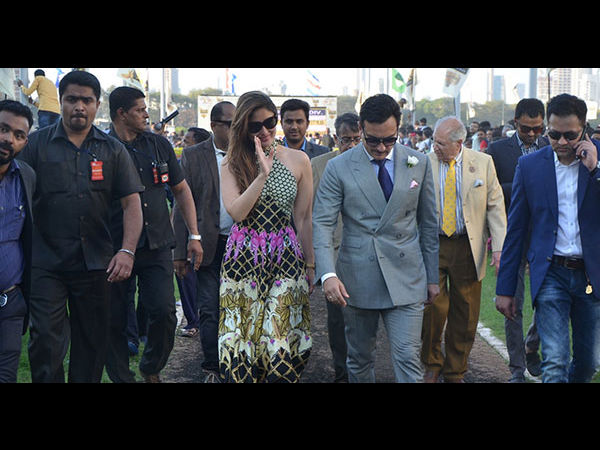 Kareena & Saif Spotted Together At Indian Derby