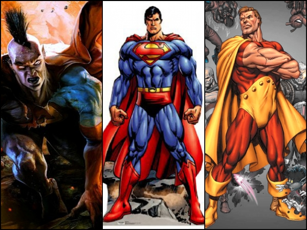 Superman (DC) & Gladiator and Hyperion (Marvel)