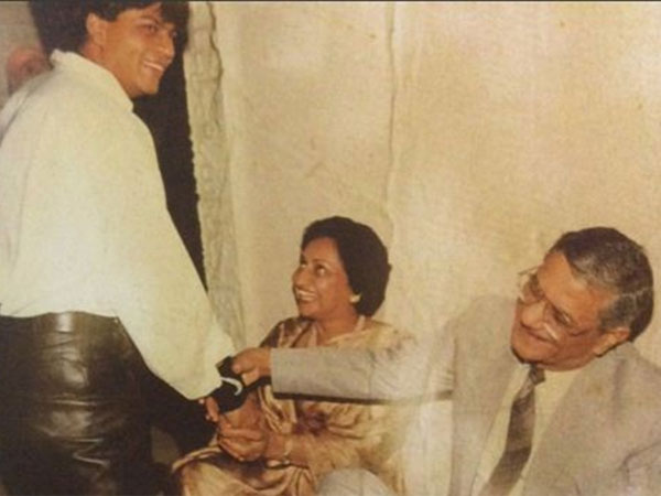 Shahrukh Khan with father in law