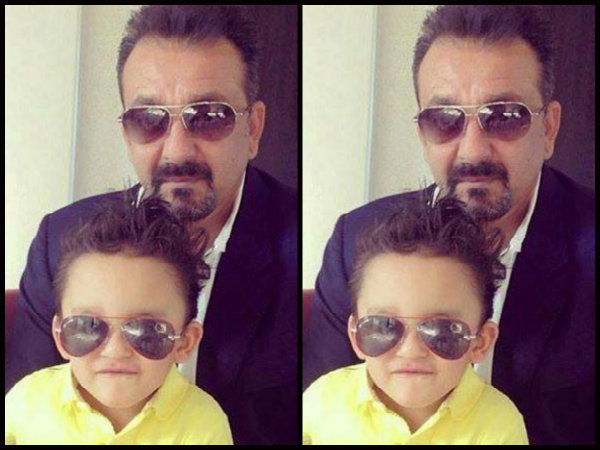 Check Out Sanjay Dutt's Latest Selfie With Little Son Shahraan
