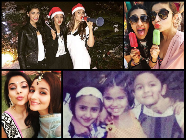 alia bhatt cute pics with her hot girl gang